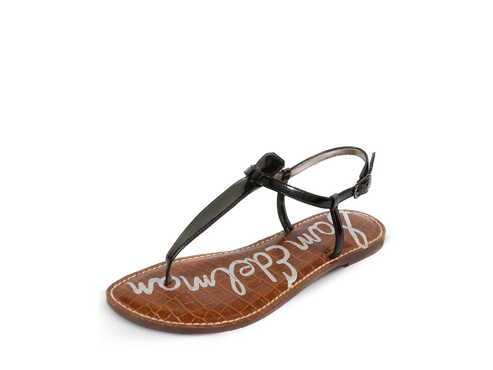 90f9114fe04783 Lyst - Sam Edelman Gigi Flat Sandals in Black