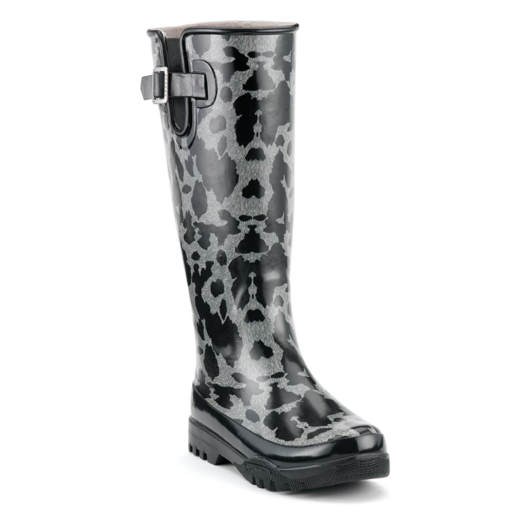 Sperry Top-sider Pelican Tall Rain Boots in Gray (grey cheetah