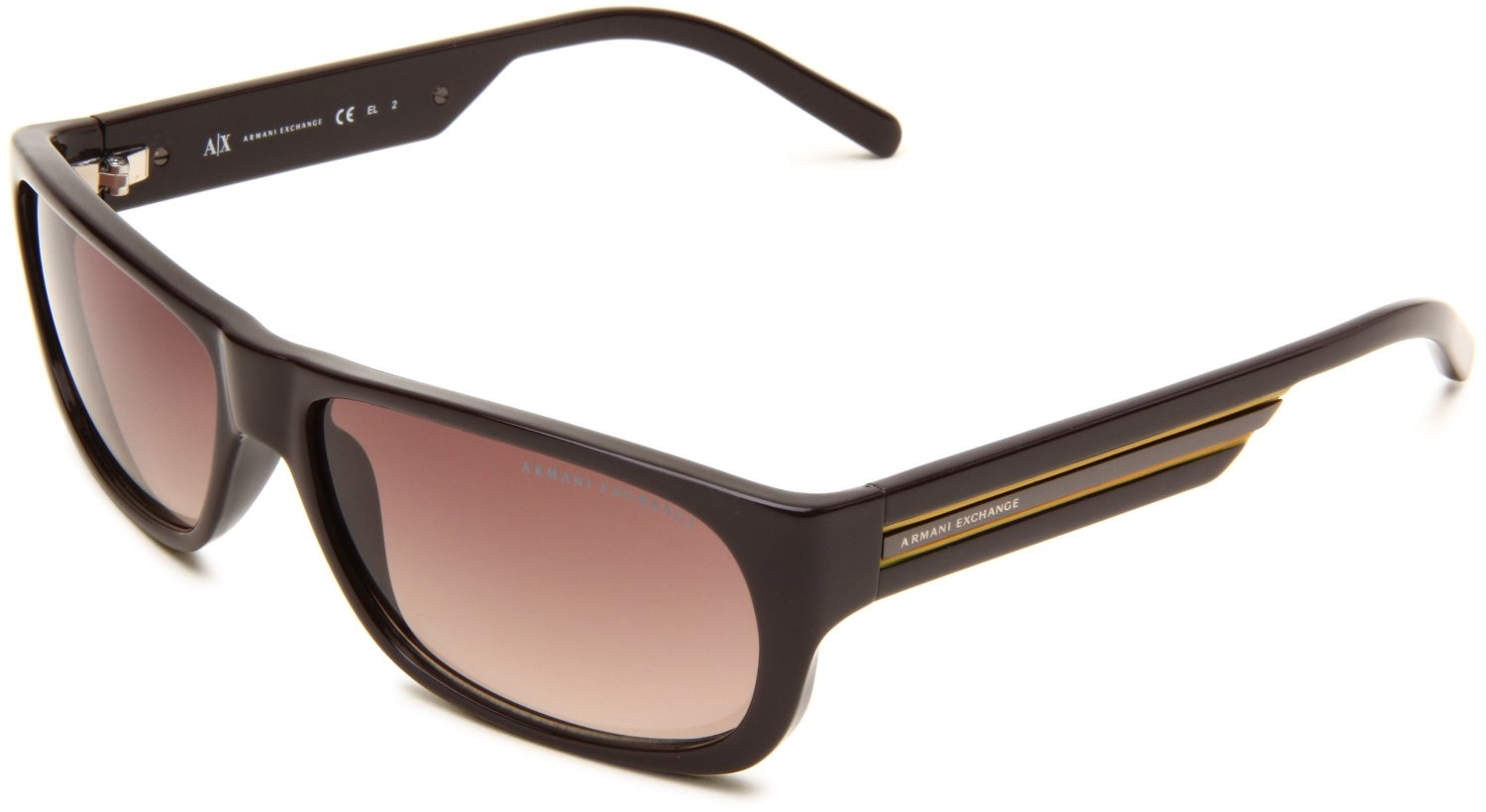 976ae37f8bc Armani Exchange Ax239s Rectangle Sunglasses in Brown for Men (brown  frame brown shaded lens