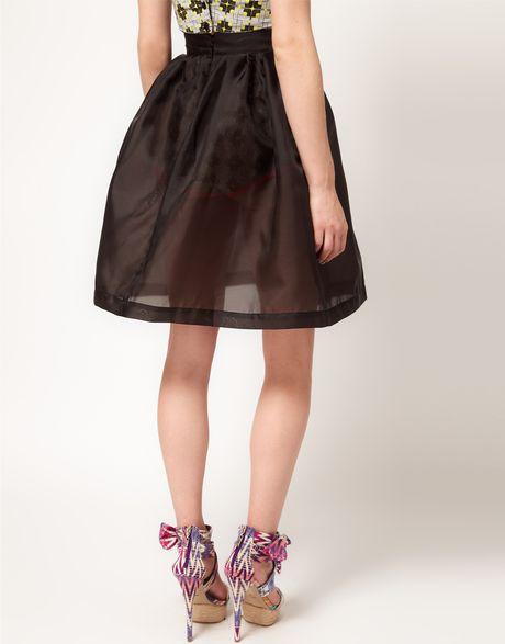 Black Organza Skirt 80