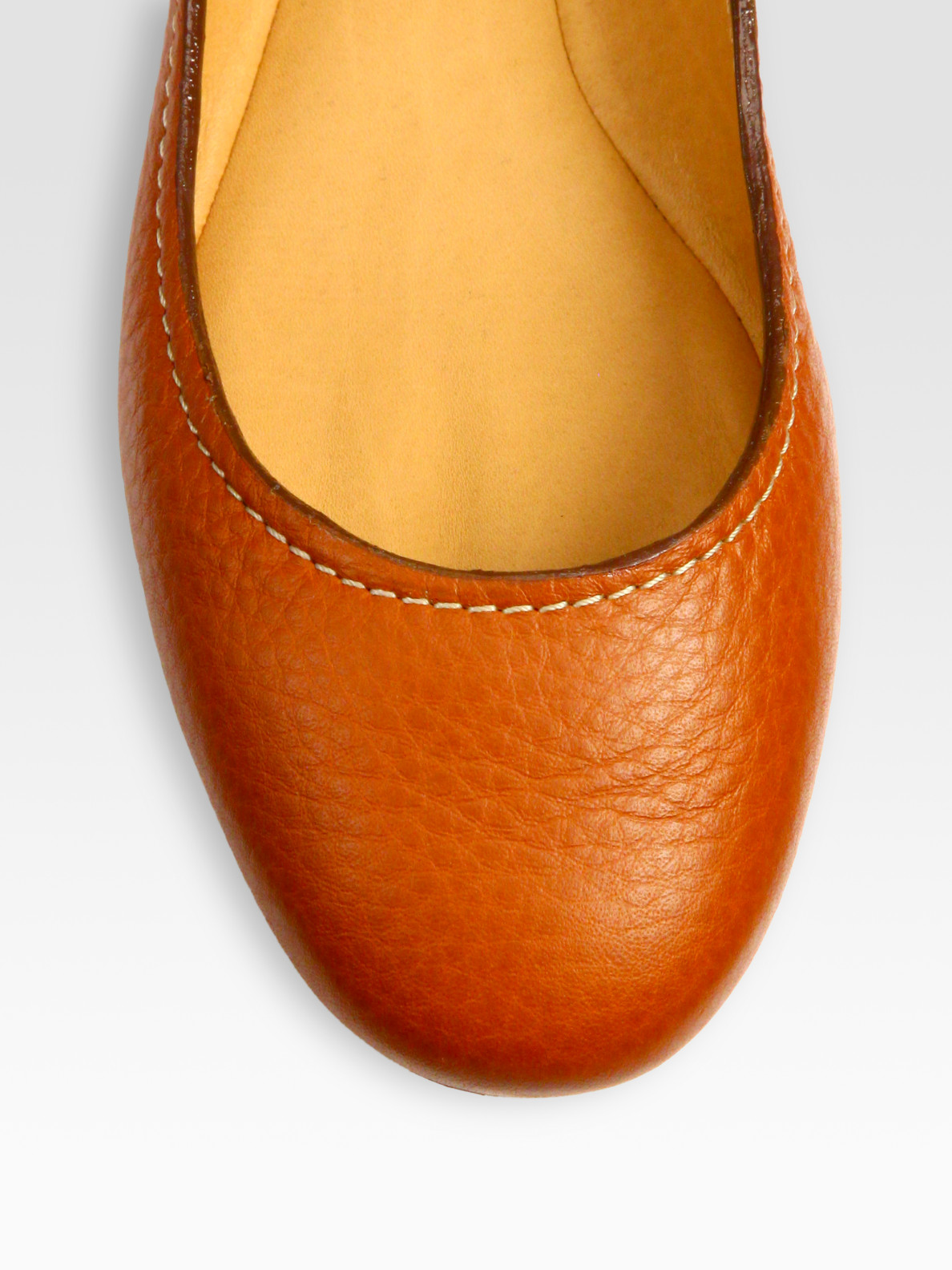 Chlo 233 Leather Ballet Flats In Brown Lyst