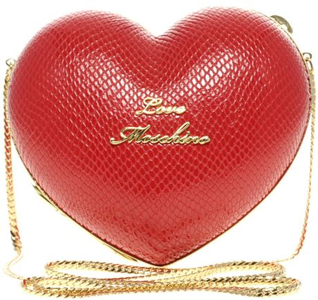 Love Moschino Heart Bag in Red - Lyst.