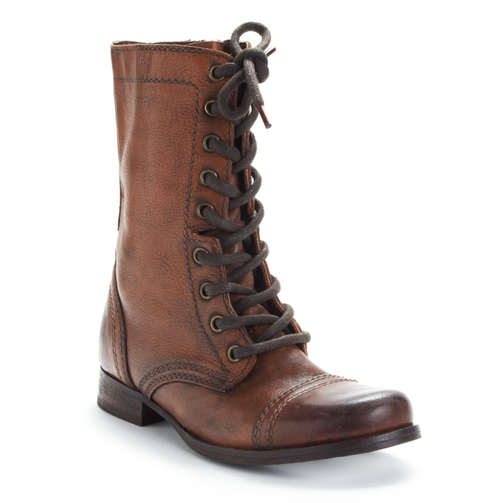 steve madden troopa boots in brown lyst