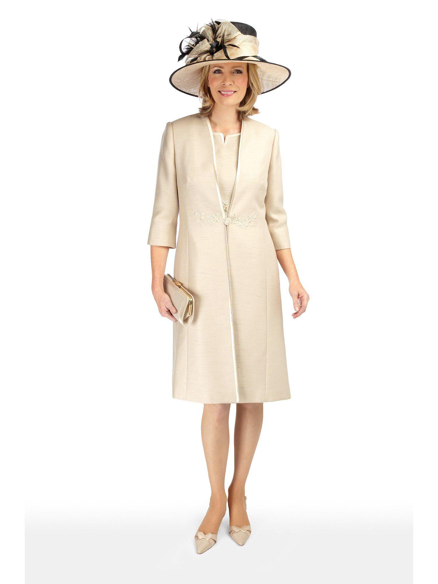 Jacques vert Sandstone Dress Coat in Natural   Lyst