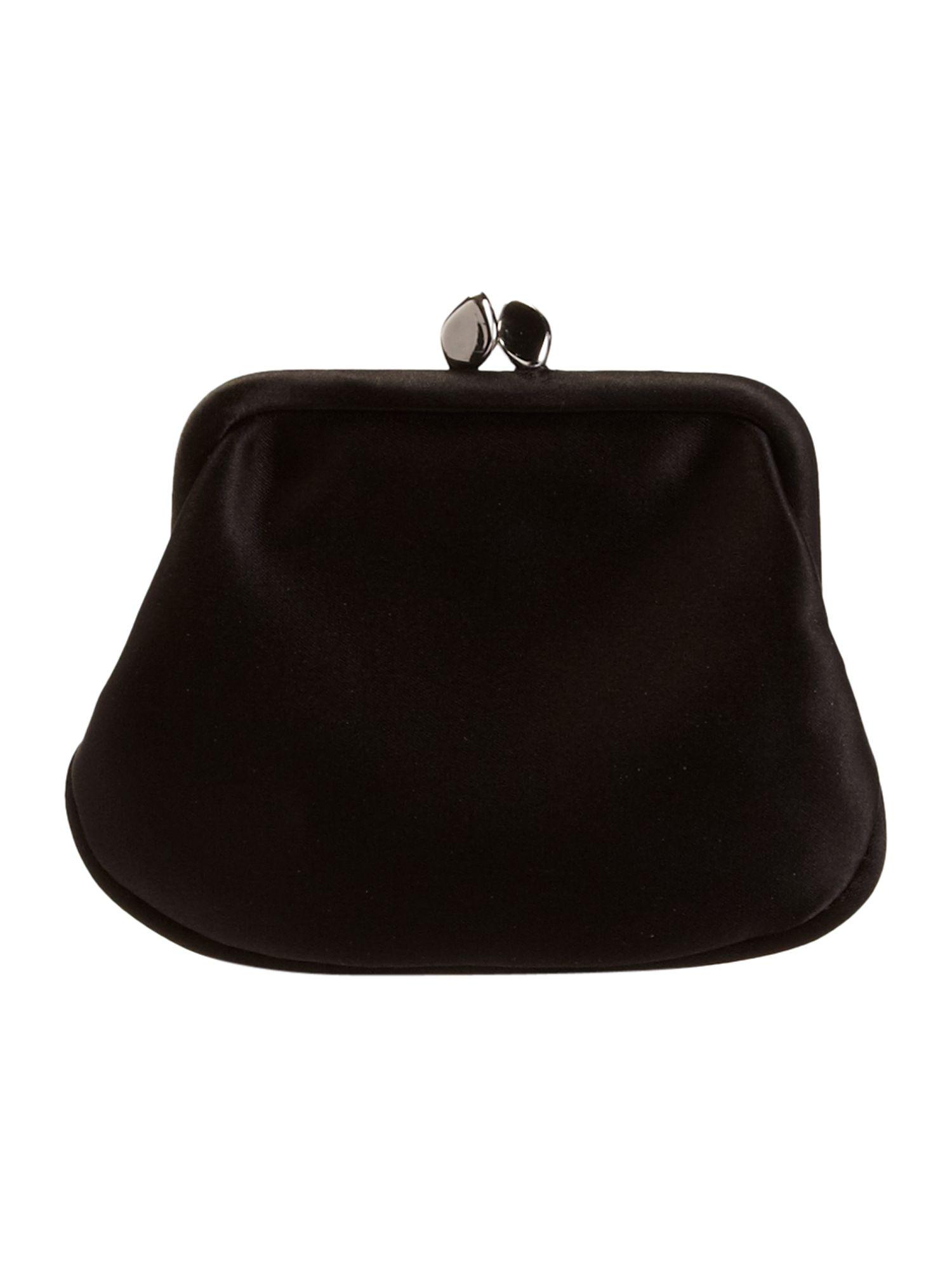 Lulu Guinness Handbag Money Mini Frame Purse in Black - Lyst