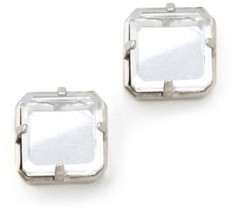 Marc By Marc Jacobs Cubes Stud Earrings in White