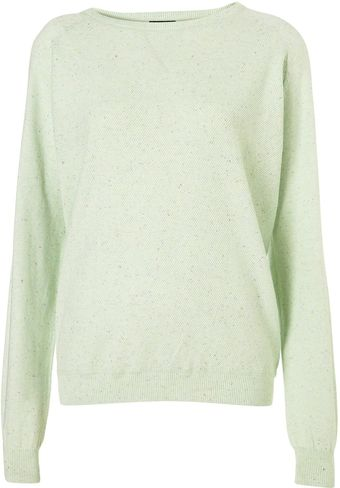Topshop Knitted Slouchy Sweater - Lyst