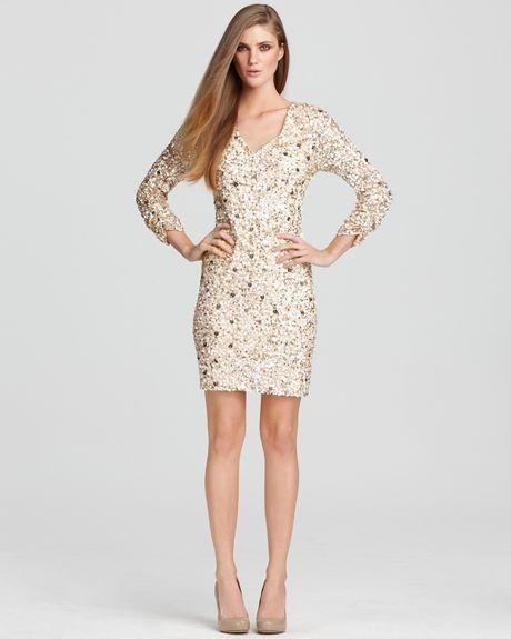 Aidan Mattox Dress Sequin Mini