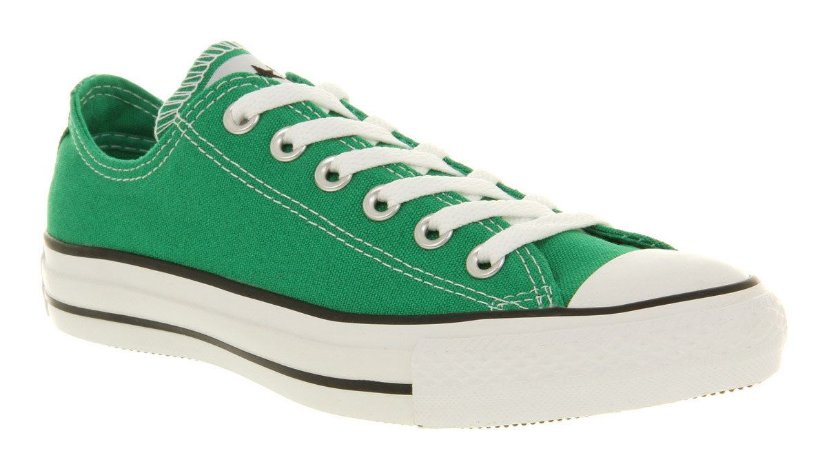 converse shoes green