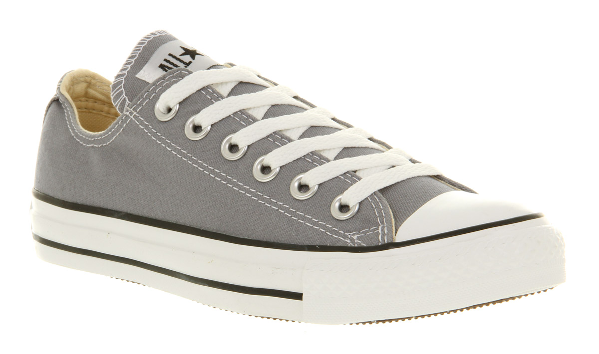 Converse all star ox low lead grey st in gray for men lyst - Graue converse ...