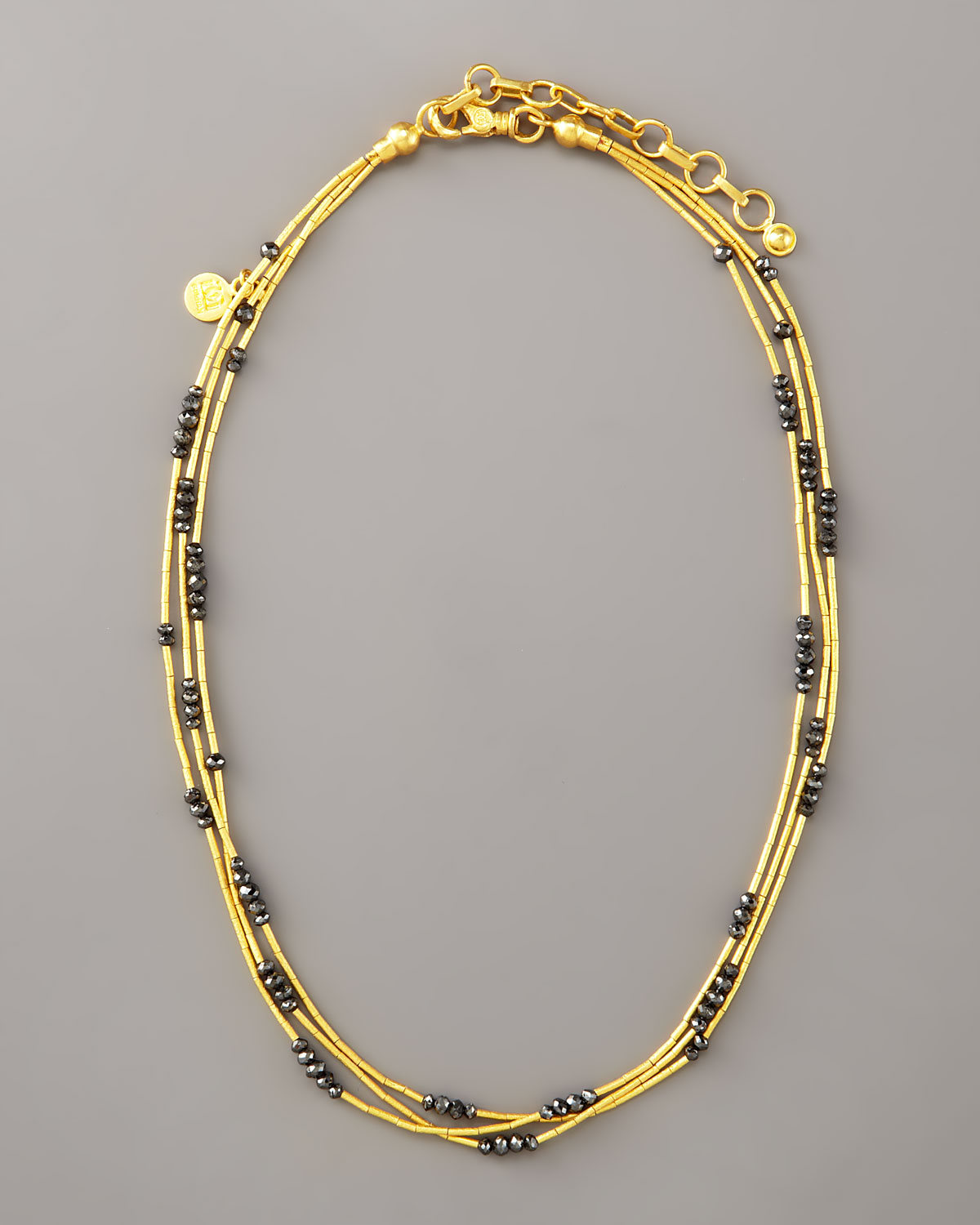 Gurhan Beaded Yellow Gold & Ruby Necklace E4ANm2mD4W