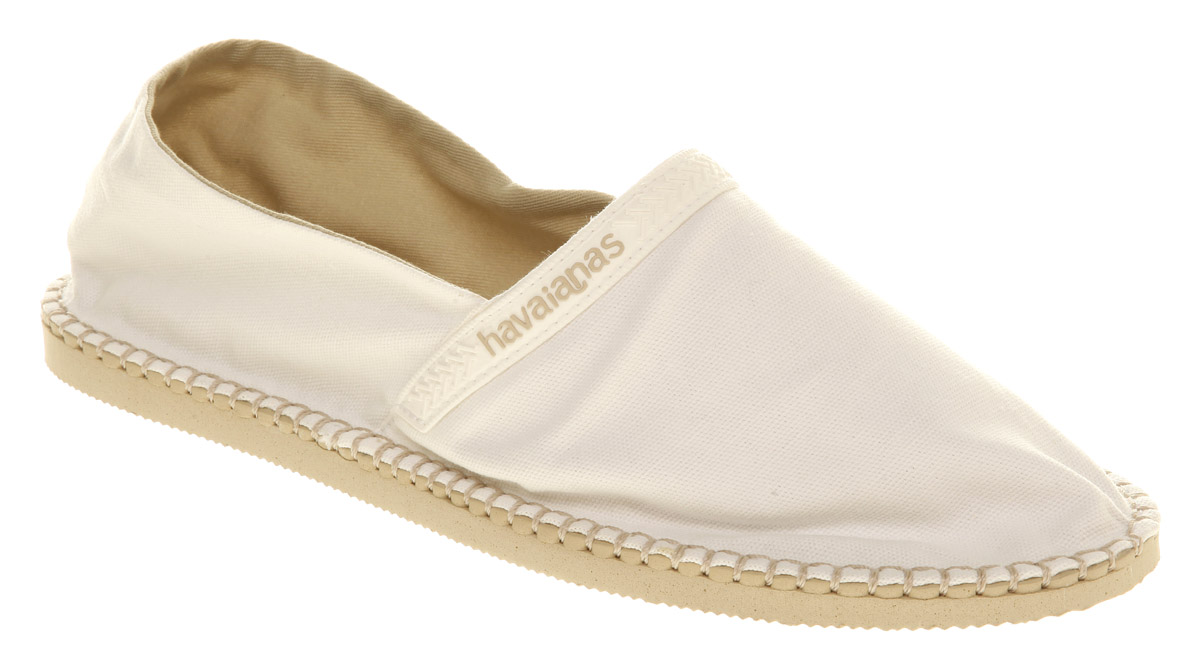 lyst   havaianas havaianas espadrille ss10 whtbge canvas
