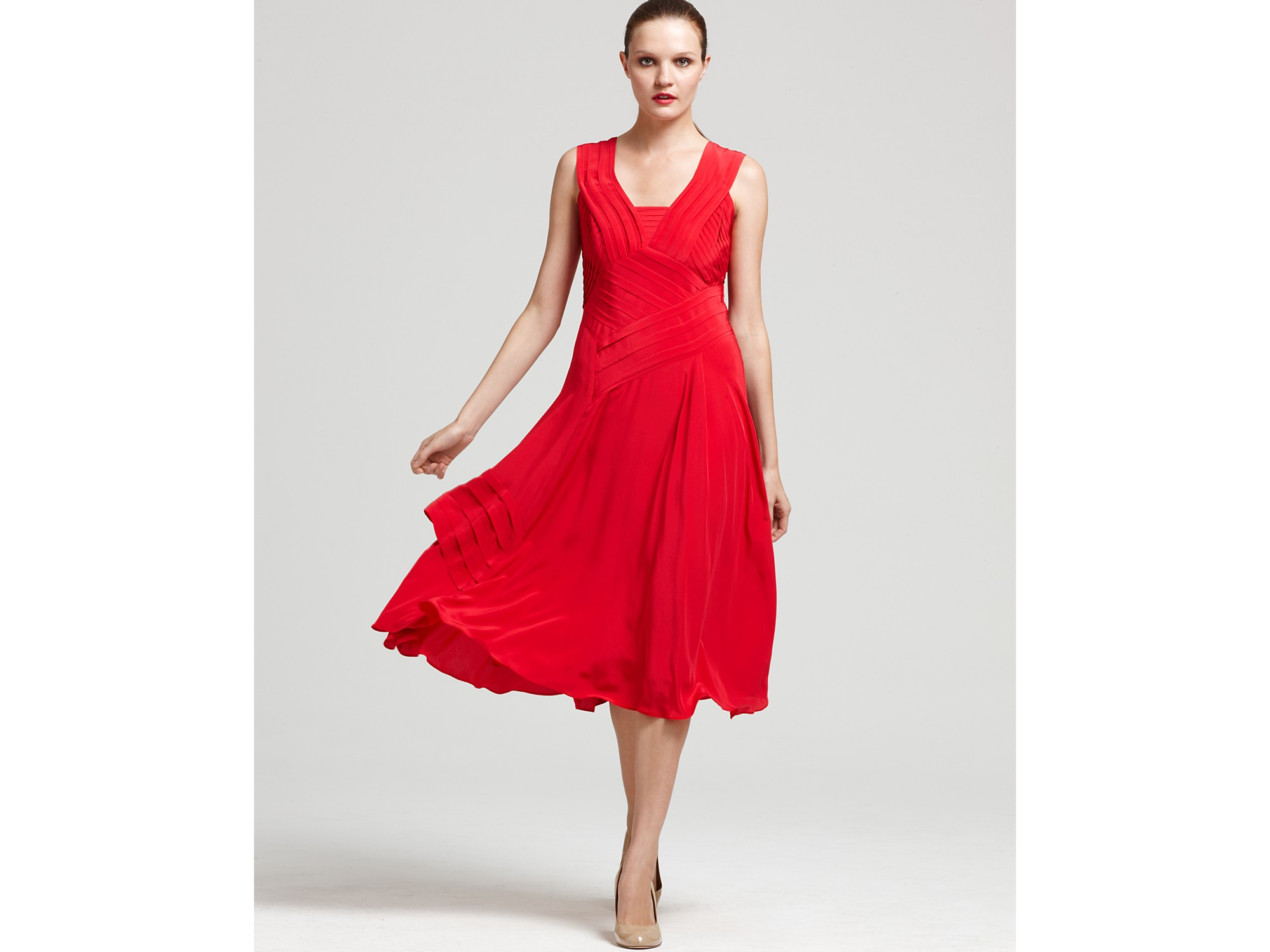 Nanette lepore Dress Beauty Queen Sleeveless in Red | Lyst