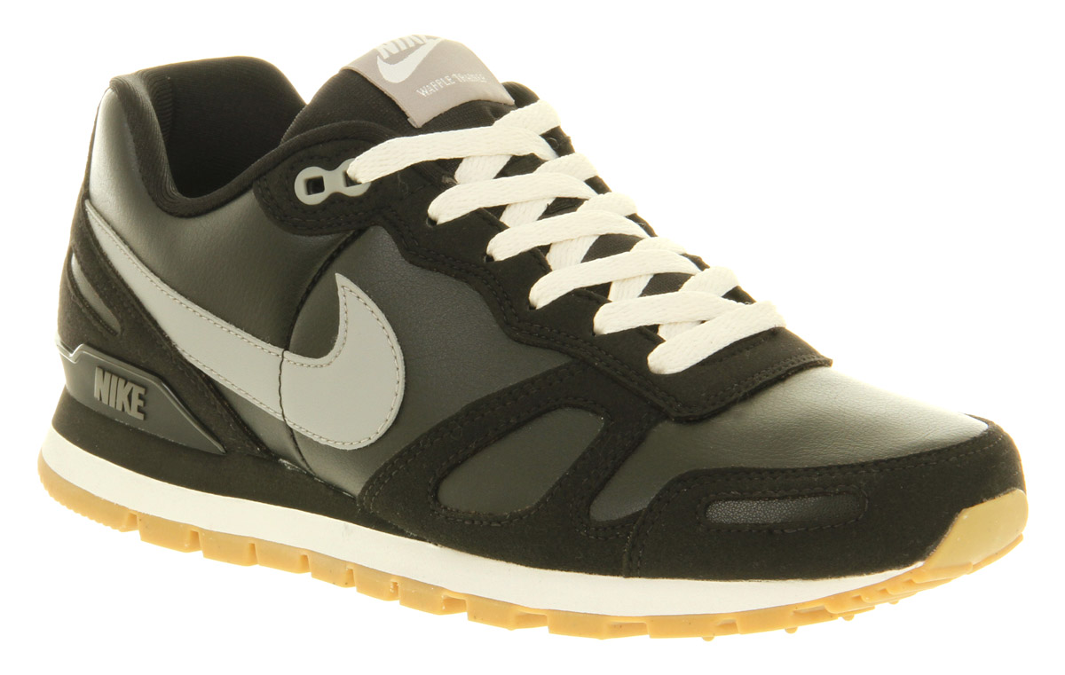premium selection b3a28 b610b Lyst - Nike Air Waffle Trainer Black Leather in Black for Me