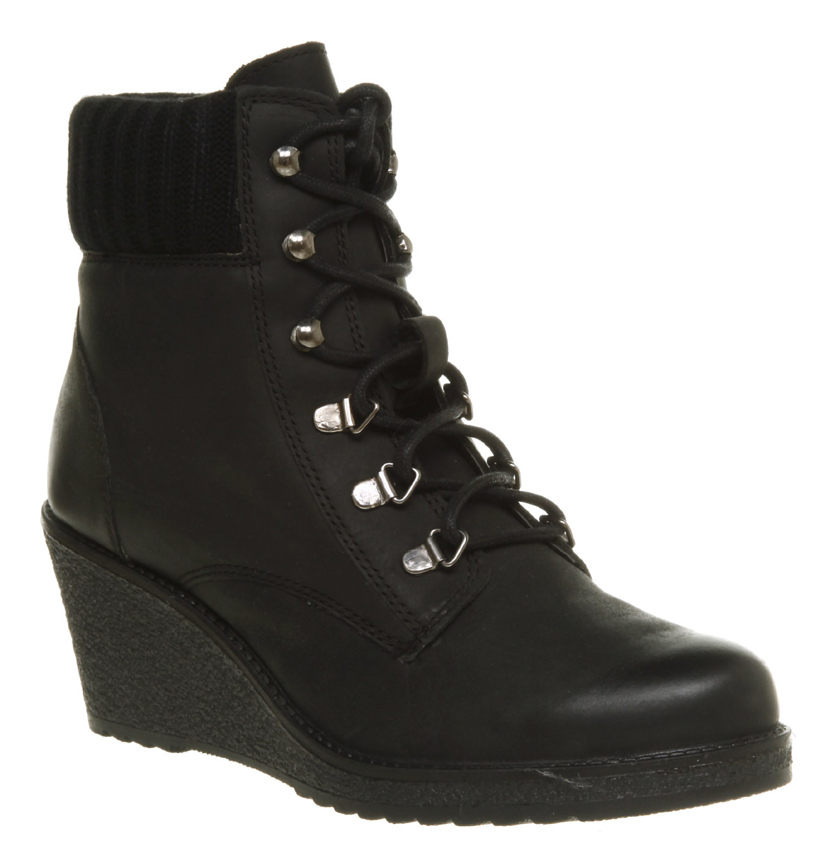 office nordic wedge boot black leather in black lyst