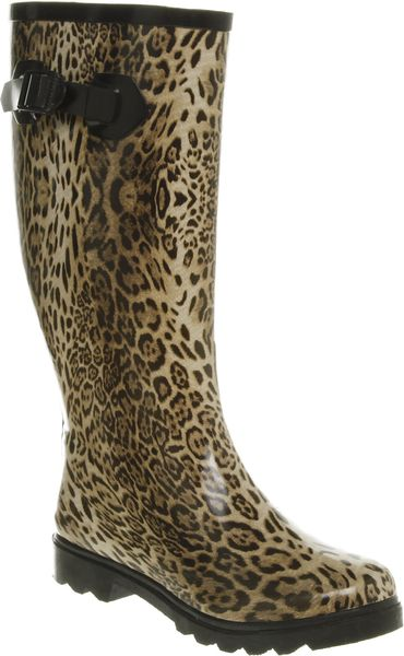 Office Nutty Knee Welly Leopard Rubber in Animal (leopard)