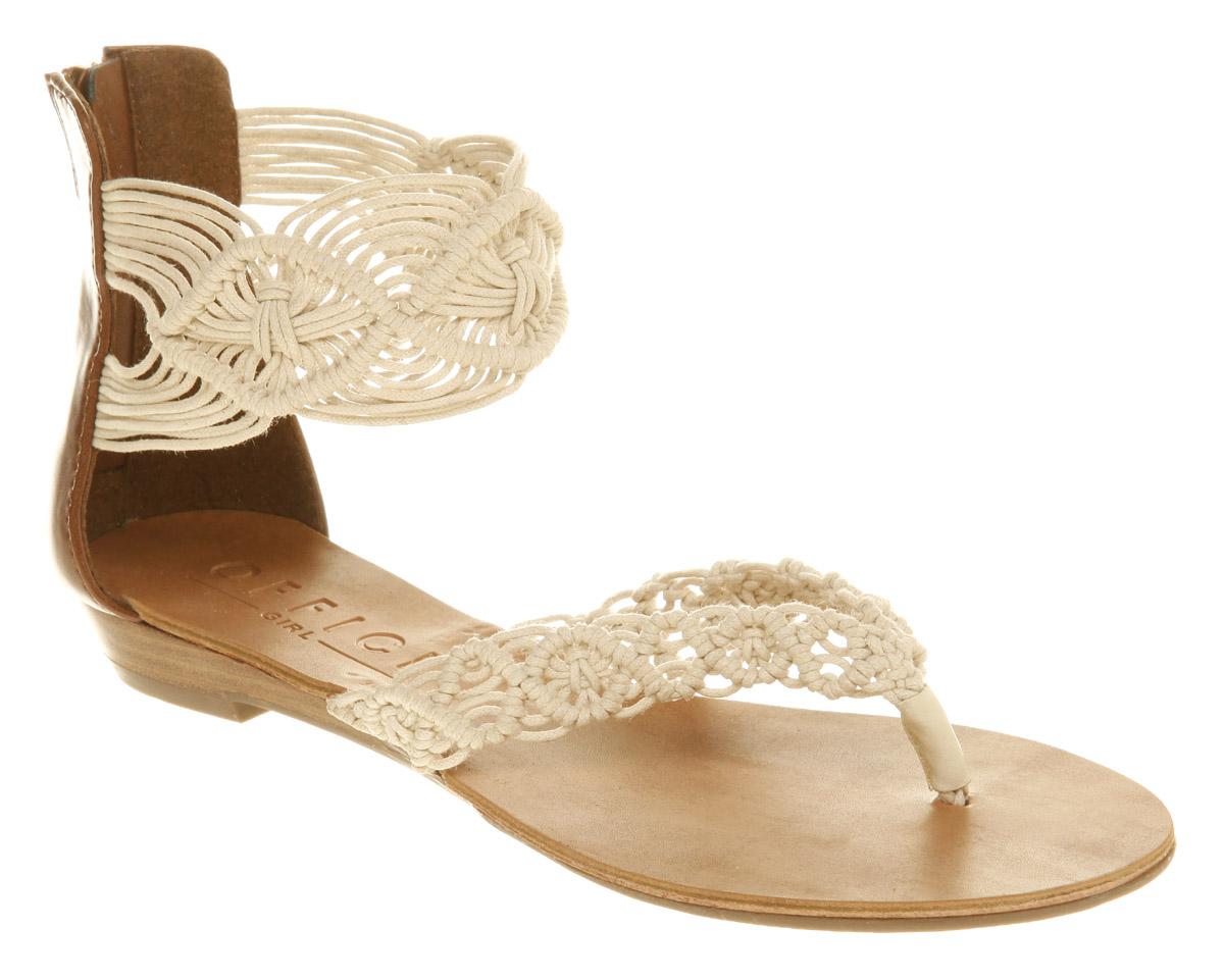 Office Stitch Macrame Sandals in