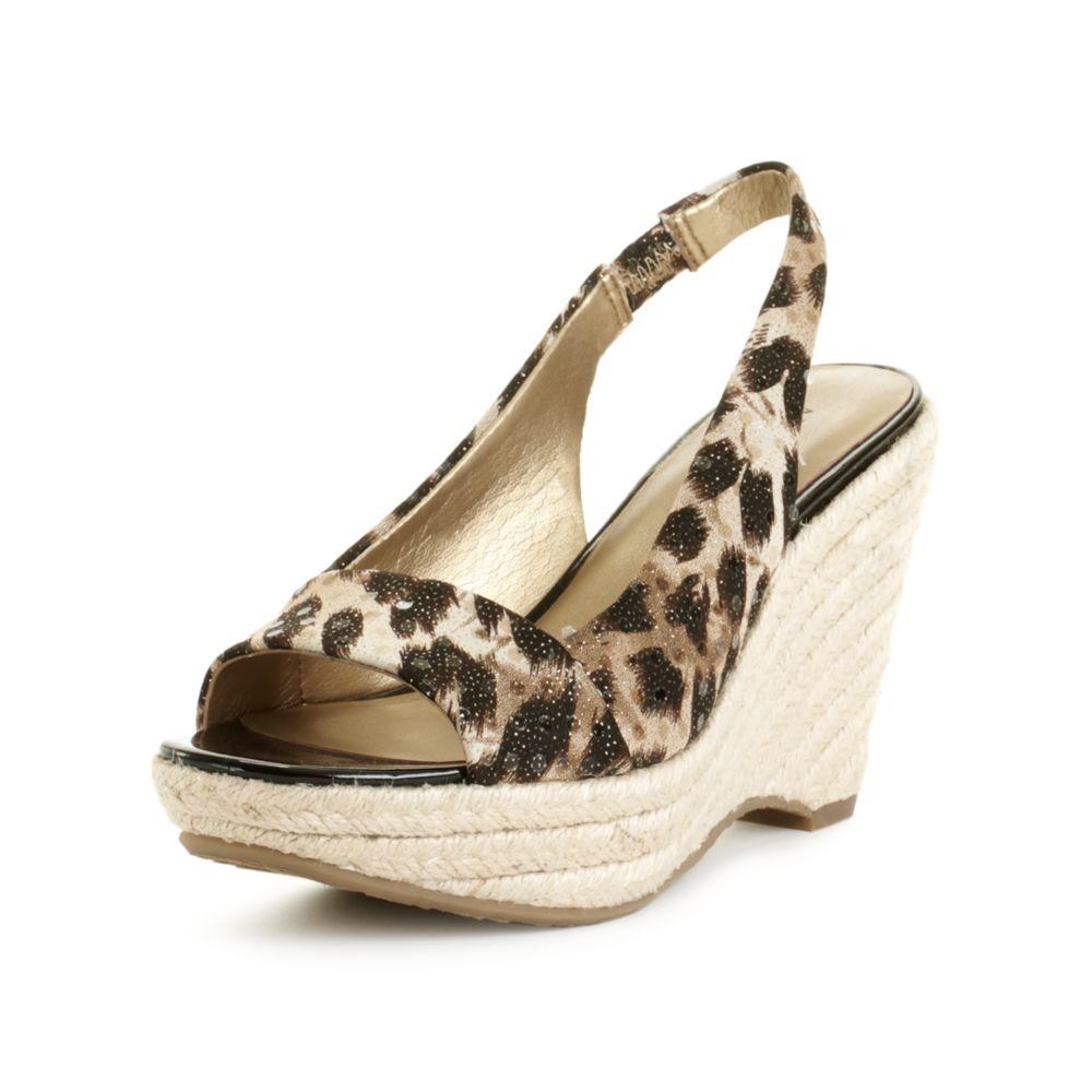klein fortuna wedge sandals in animal leopard lyst