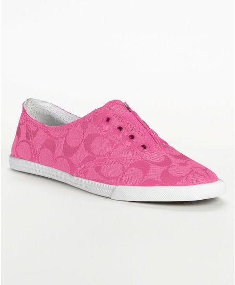 Coach Katie Sneaker in Pink (fuchsia) | Lyst