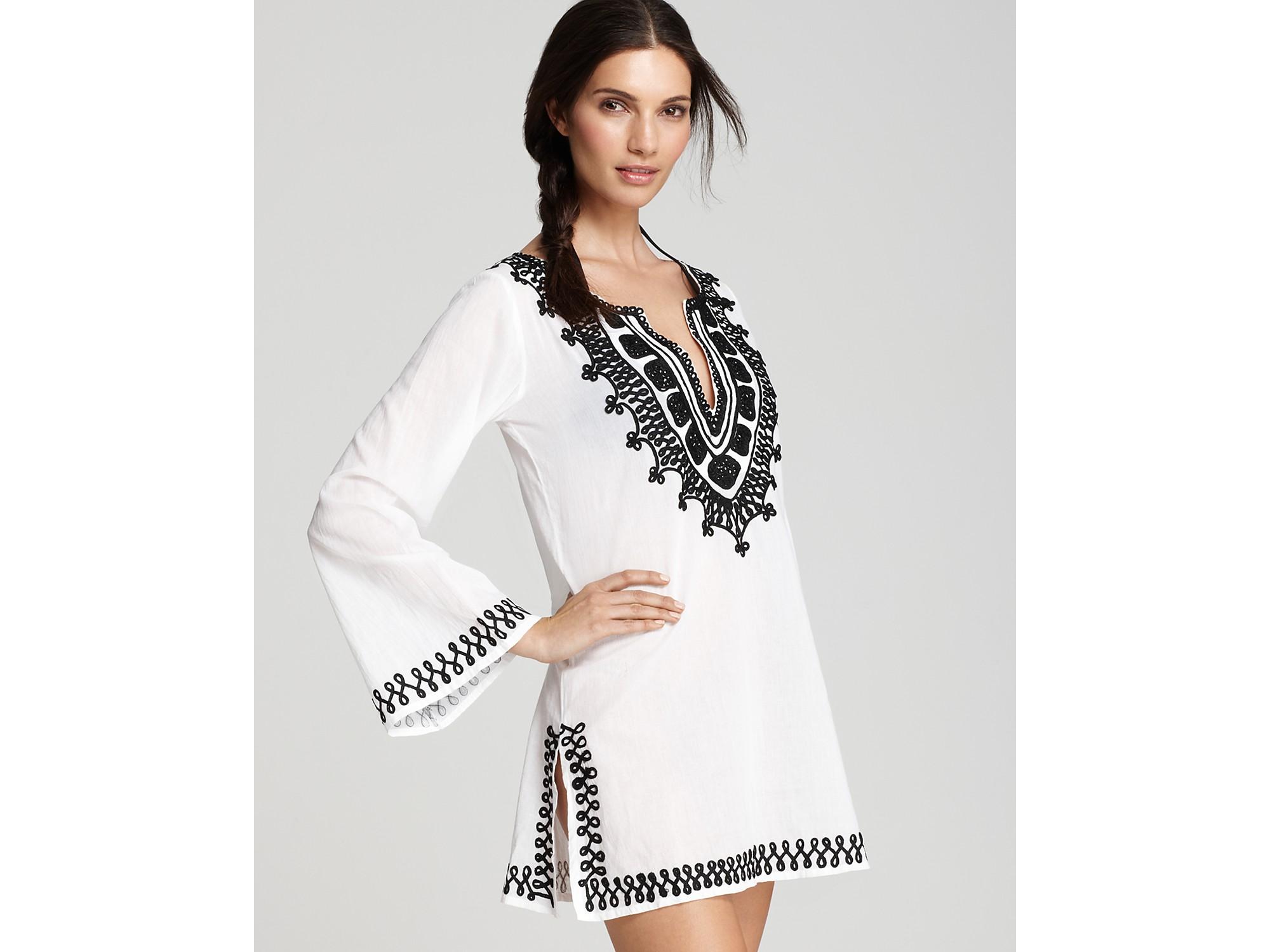 Lyst - Debbie Katz Sahara Embroidered Tunic in White