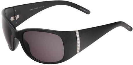 Esprit Esprit Womens Resin Sunglasses in  (black frame/gray lens)