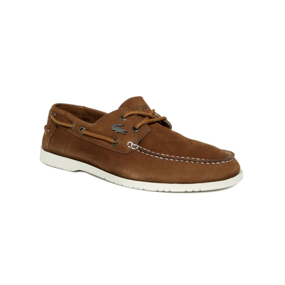c501c0c59e6a Lyst - Lacoste Corbon Boat Shoes in Brown for Men