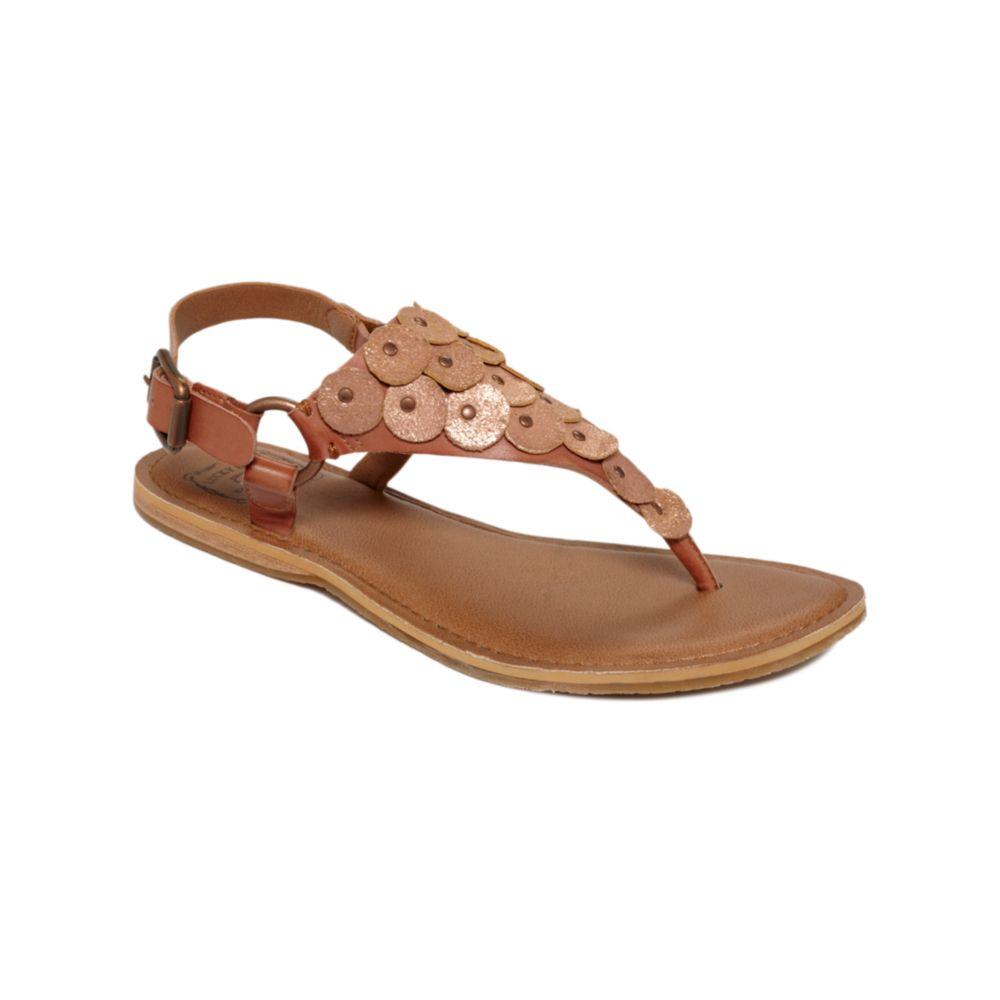 Lucky Brand Sandals Filomena Flat In Brown (dark Camel)   Lyst