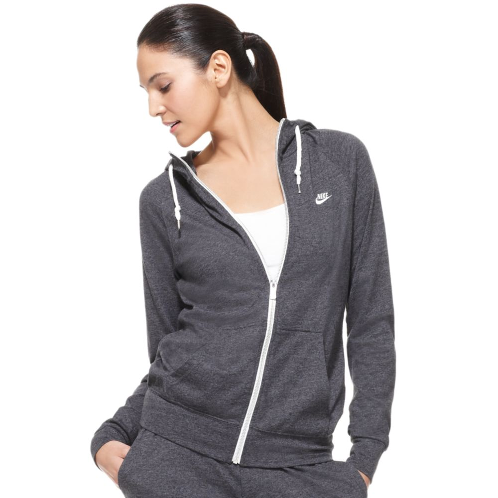 c217a199b595 Lyst - Nike Time Out Long Sleeve Zip Up Hoodie in Gray