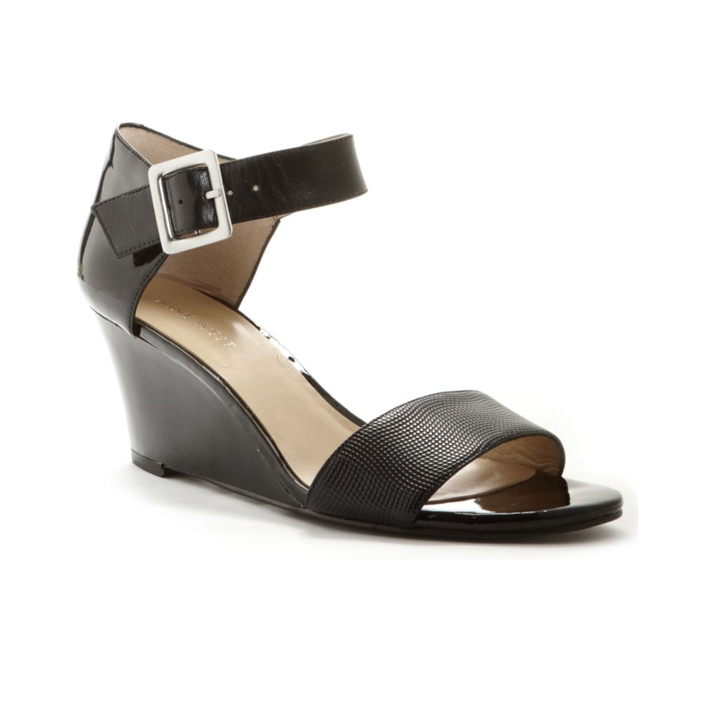70fe4a276114 Lyst - Nine West Packurbags Wedge Sandals in Black