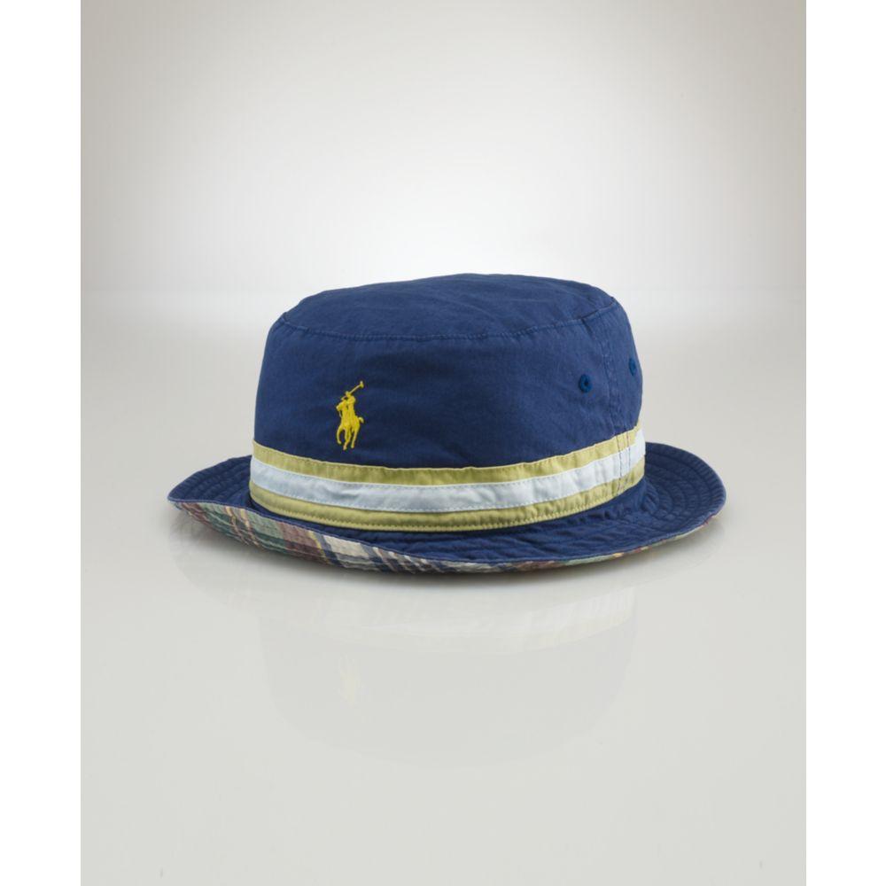 3b0fa53e51f Lyst - Ralph Lauren Beachside Reversible Bucket Hat in Blue for Men