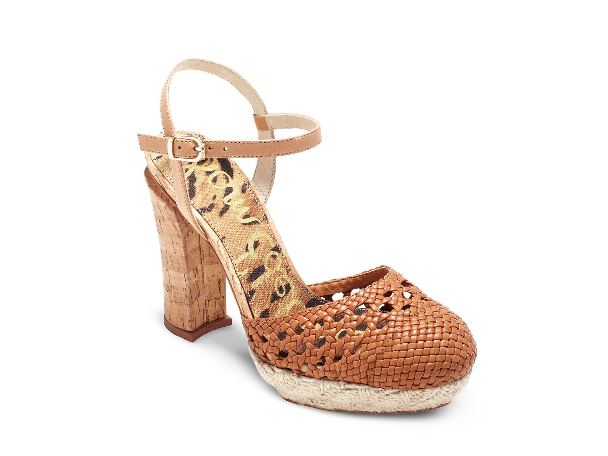 e29827a9a63 Lyst - Sam Edelman Rella Chunky Heel Closed Toe Sandals in Brown