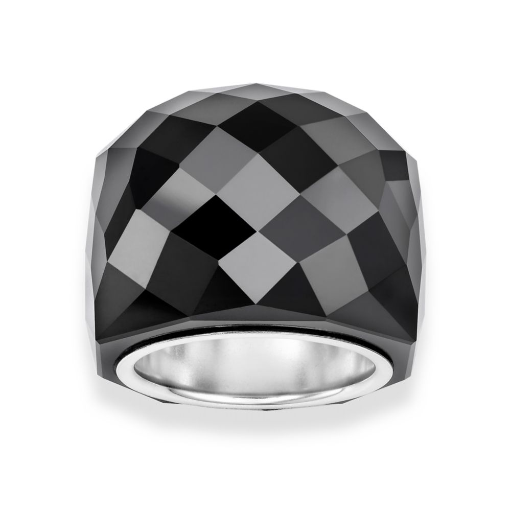 Swarovski Jet Nirvana Ring In Black Lyst