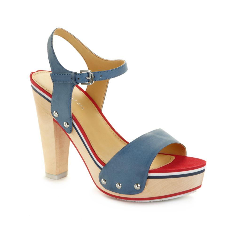 Tommy Hilfiger Chicago Sport Platform Sandals In Blue