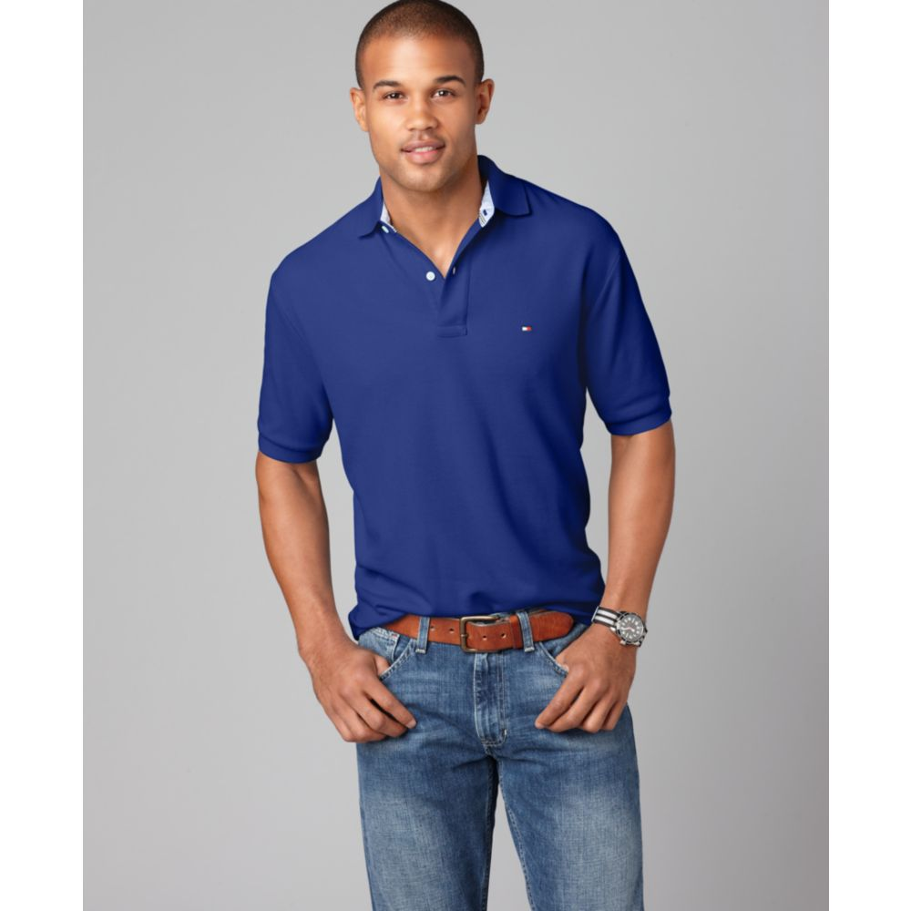 Lyst Tommy Hilfiger Slim Fit Ivy Polo Shirt In Blue For Men