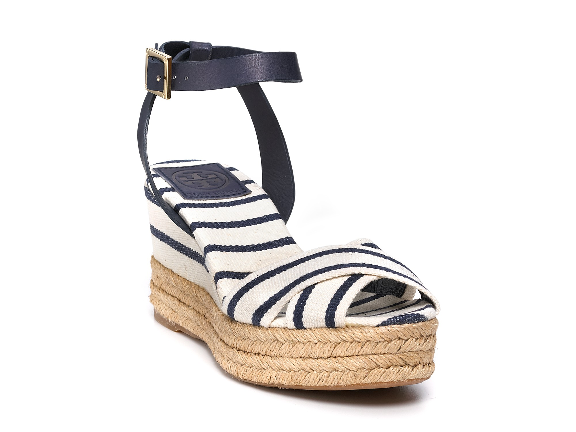 32a6ba7337f Lyst - Tory Burch Espadrilles Karissa Mid Wedge in Blue