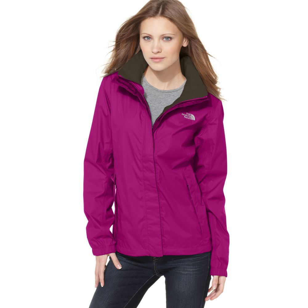 Lyst - The North Face Resolve Lightweight Zip Up Rain Jacket in Purple 7c20df0a34