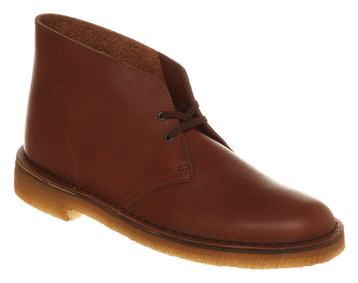 Clarks Desert Boot Brown Vintage Leather In Brown For Men
