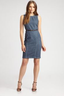 Michael by Michael Kors Eyelet Dress - Lyst