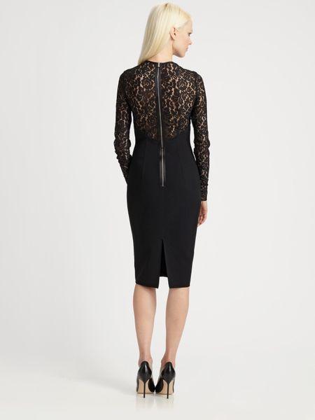 Michael Kors Lace Illusion Dress In Black Lyst