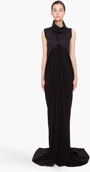 Rick Owens Black Mermaid Dress - Lyst