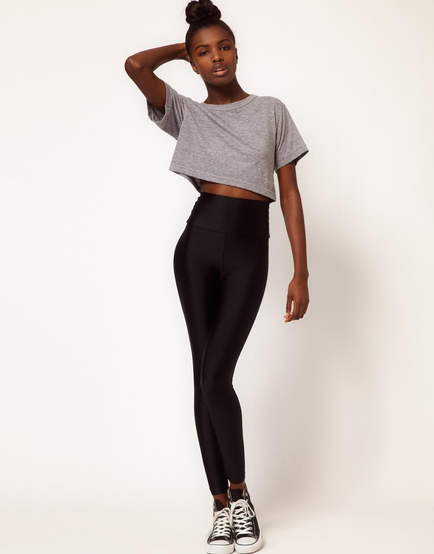 American apparel American Apparel High Shine High Waist Leggings ...
