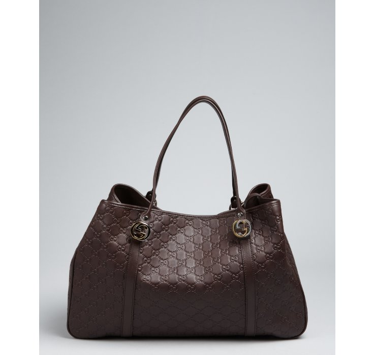 Gucci Chocolate Guccissima Leather Shoulder Bag in Brown | Lyst