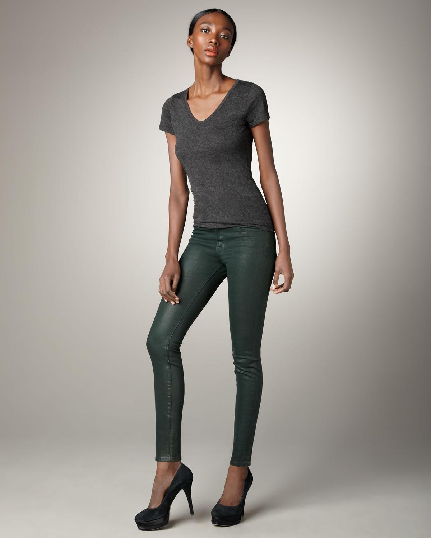 J brand skinny coated jeans