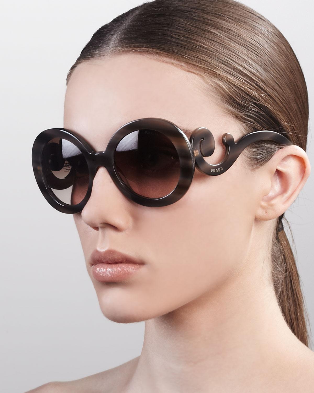 797820096d0a3 ... buy lyst prada baroque sunglasses in purple 2db9e 0005e