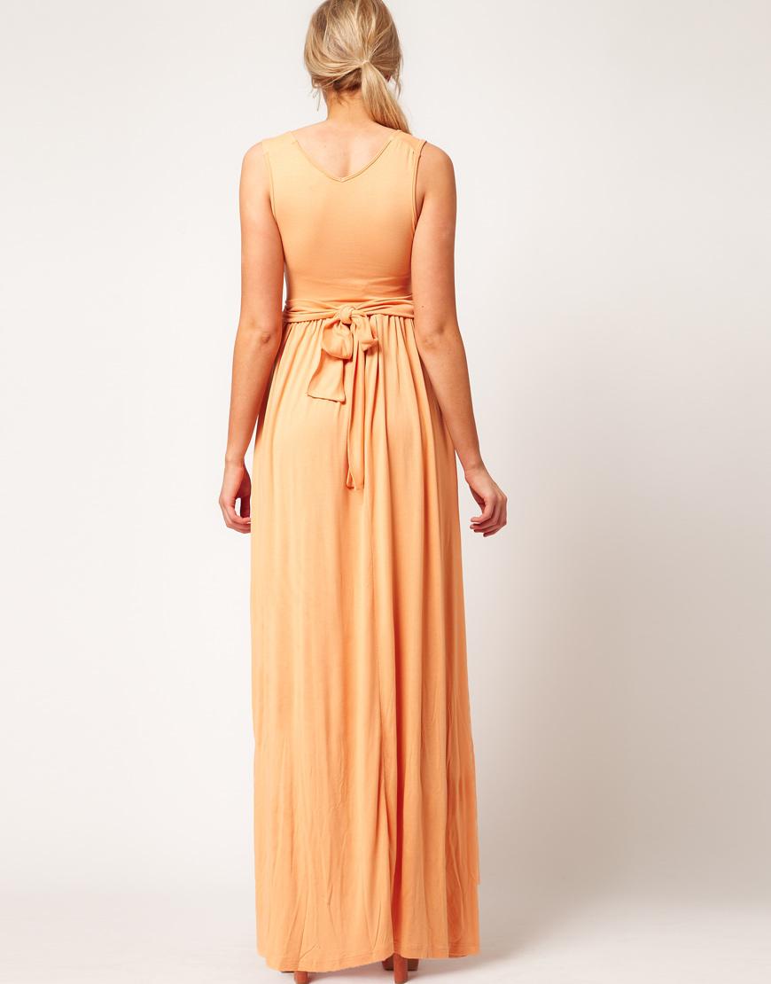ce389cf4d17 ASOS Asos Maternity Maxi Dress in Jersey with Grecian Drape Detail ...