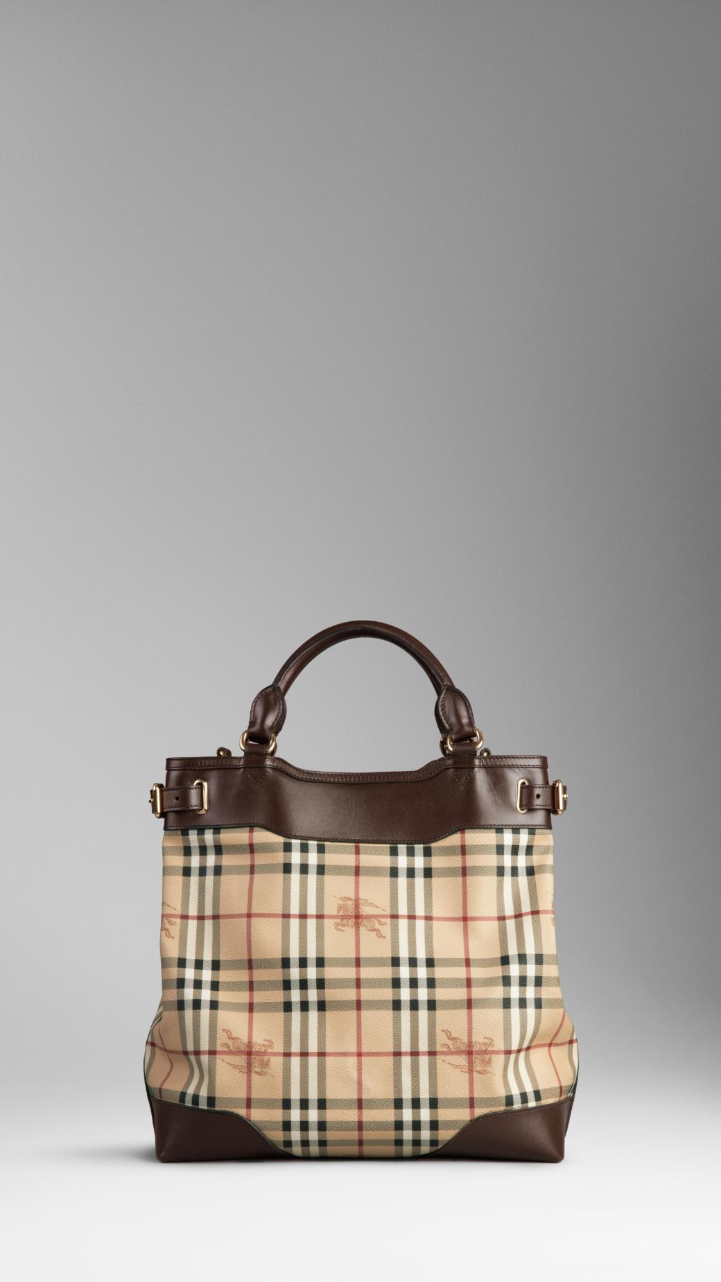 Burberry Medium Haymarket Check Tote Bag in Brown - Lyst c694e9de4e013