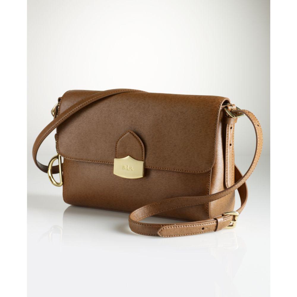 6ed45d3ba653 Lyst - Lauren By Ralph Lauren Newbury Convertible Shoulder Bag in Brown