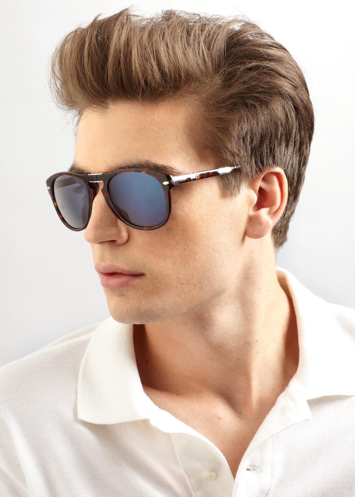 Persol Plastic Aviator Sunglasses In Brown For Men Lyst