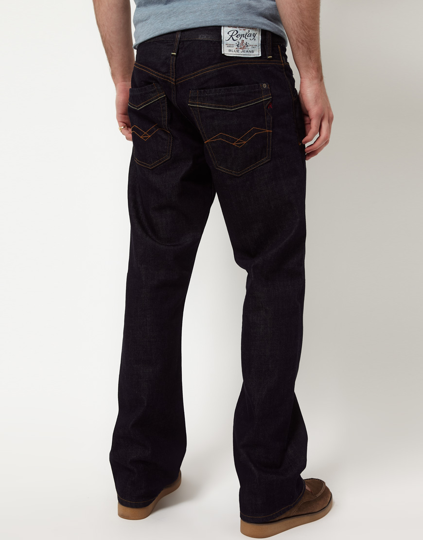 Replay Jimi Bootcut Jeans in White for Men   Lyst