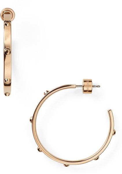 michael kors gold hoop earrings michael kors michael gold hoop earrings in gold 5559